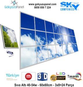 60x60 Gökyüzü Panel 3x8