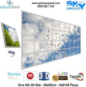 60x60 Gökyüzü Panel 4x9