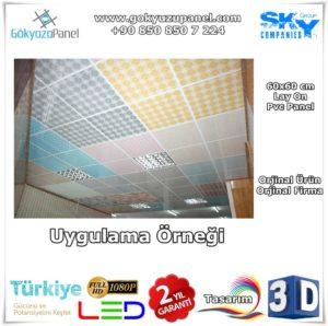 60x60 Pvc Panel Uygulama Örneği