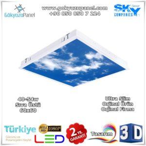 60x60 Sıva Üstü Gökyüzü Panel Slim