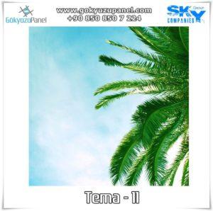 Ağaçlı Gökyüzü Tema - 11