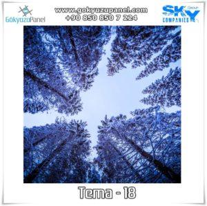Ağaçlı Gökyüzü Tema - 18