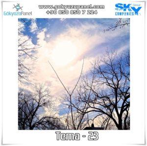 Ağaçlı Gökyüzü Tema - 23