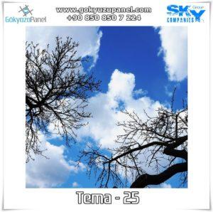 Ağaçlı Gökyüzü Tema - 25