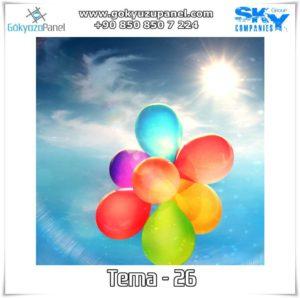Balonlu Gökyüzü Tema - 26