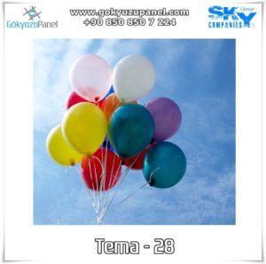 Balonlu Gökyüzü Tema - 28