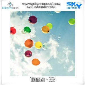 Balonlu Gökyüzü Tema - 32