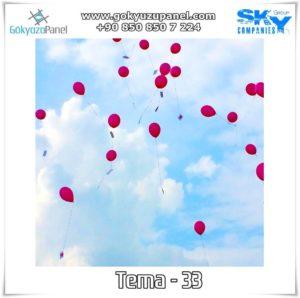 Balonlu Gökyüzü Tema - 33