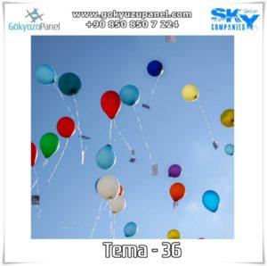 Balonlu Gökyüzü Tema - 36