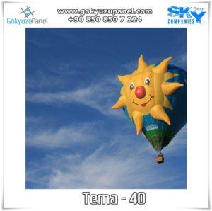Balonlu Gökyüzü Tema - 40