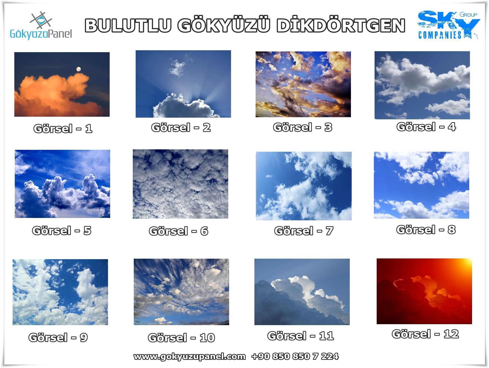 Bulutlu Gökyüzü Dikdörtgen