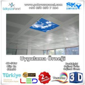 Gökyüzü Panel Clip In 60x60 BackLight Uygulama Örneği