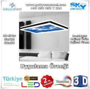 Gökyüzü Panel Sarkıt 60x60 BackLight Uygulama Örneği