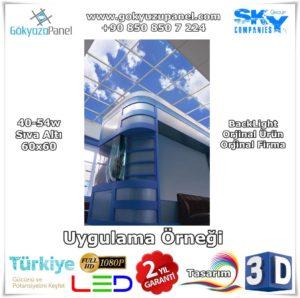 Gökyüzü Panel Sıva Altı 60x60 BackLight Uygulama Örneği