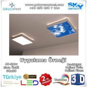Gökyüzü Panel Sıva Üstü 60x60 BackLight Uygulama Örneği