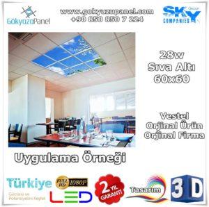 Vestel 60x60 Gökyüzü Panel Sıva Altı Uygulama Örneği